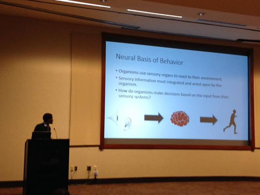 Photo of Tyler Hill at Emory-Laney Graduate School STEM Research and Career Symposium